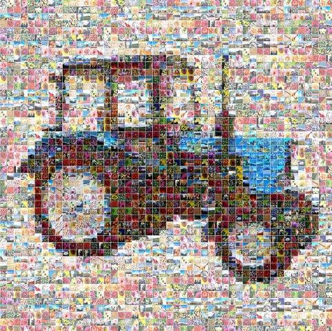 Мозайка Трактор