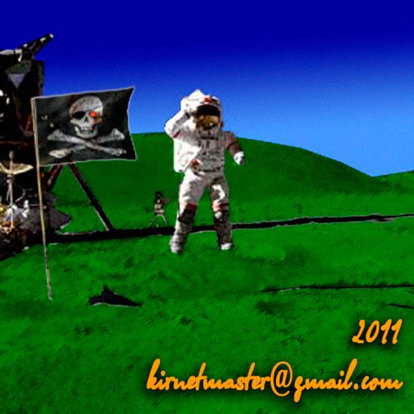 Наши пираты на Луне! Документальное фото раскрасил сам.