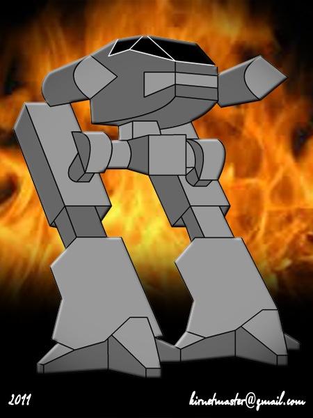Робот в огне, почти как из фильма Робокоп